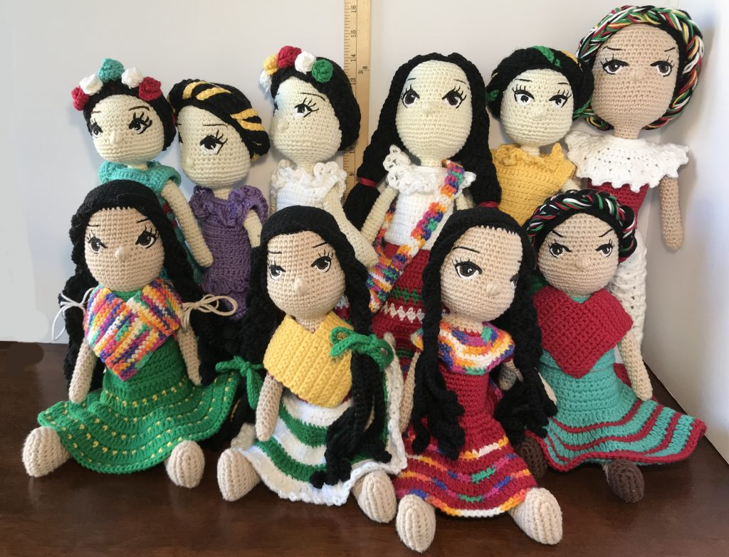 Mexican Native Girls Amigurumis